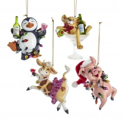 "Image of 3.5""Party Cow/Pig/Penguin/Mouse Orn"