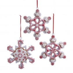 Image of Claydough Peppermint Snowflake 3/A