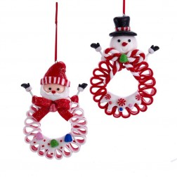 "Image of 5""Claydough Snwmn/Santa Candy Ribbn"
