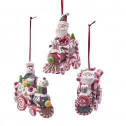 "Image of 3.5""Santa/Snwmn Gingrbrd Train 3/A"