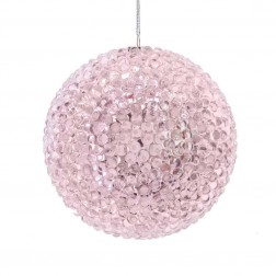 Image of 90Mm Pink Bead Ball Orn