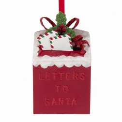 """Image of 4""""Met """"Letters To Santa"""" Mailbx Orn"""