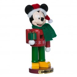 "Image of 10""Mickey W/Present Nutcracker"
