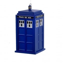 4.5 Doctor Who Tardis Blow Mold Ornament
