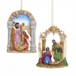 "Image of 4""Resin Black Nativity Orn 2/Asstd"
