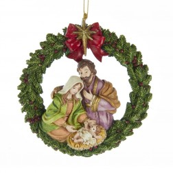 """Image of 4.25""""Resin Nativity Orn"""