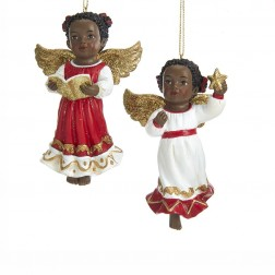 """Image of 3.75""""African American Angel Orn 2/A"""