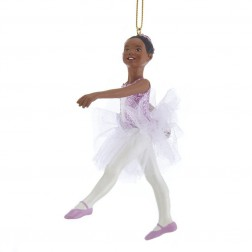 "Image of 4.5""African American Ballerina Orn"
