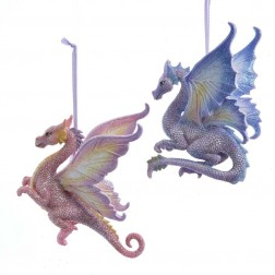 "Image of 4.13""Resin Fantasy Dragon Orn 2/A"
