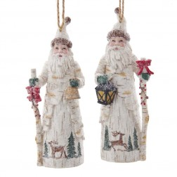 "Image of 5.13""Birch Berry Santa W/Staff 2/A"