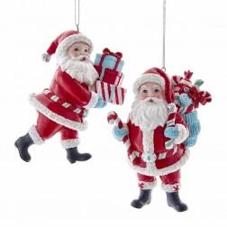 "Image of 4""Retro Santa Gft Bxs/Cndycne+Sack"