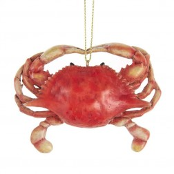 "Image of 3.38""Resin Red Crab Orn"