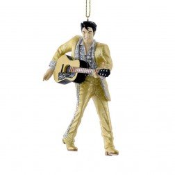 "Image of 4.5""Resin Gold Suit Elvis W/Guitar"