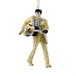 "Image of 4.5""Resin Gold Suit Elvis W/Guitar"