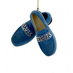 "Image of 3.25"" Resin Elvis Blue Suede Shoes Ornament"