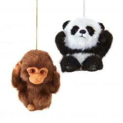 "Image of 3""Furry Baby Monkey/Panda Orn 2/A"