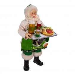 "Image of 10.5""Music Irish Santa Chef Figure"