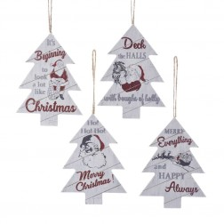 "Image of 5.5""Wood Santa Tree Orn 4/Asstd"