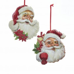 "Image of 5.5""Metal Santa Head Orn 2/Asstd"