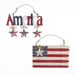 "Image of 5.5""""America"" W/Star Dangles/Flag"
