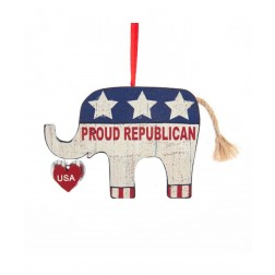 "Image of 3""Amercan ""Proud Republicn"" Elephnt"