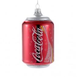 """4.75"""" Glass Classic Coca-Cola Can Ornament"""
