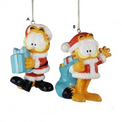 Garfield in Santa Suit Christmas Ornament