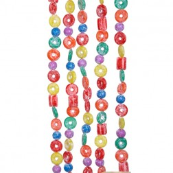 9-Foot Plastic Glittered Life Saver, Ball, and Candy Garland