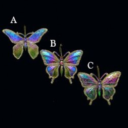 "Image of 3.5"" Rainbow Butterfly with Glitter Ornament"
