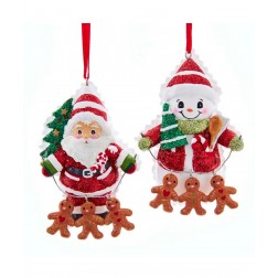"""Image of 3""""Santa/Snwmn W/Gingrbrd Chain 2/A"""