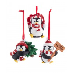 "Image of 3""Res Penguin W/Hat & Scarf Orn 3/A"