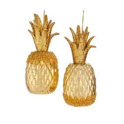 """Image of 5.75""""Shiny Beaded Pineapple Orn 2/A"""