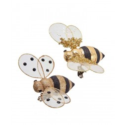 "Image of 5""Gold Glitter/Shiny Bee Clip 2/A"