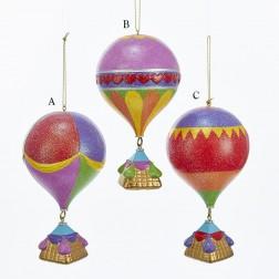 "5.25"" Glittered Hot Air Balloon Ornament"