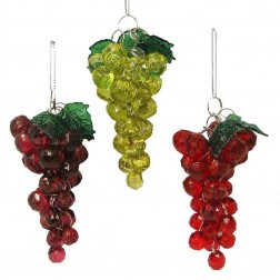 "Image of 4""Beaded Grapes Orn 3/Asstd"