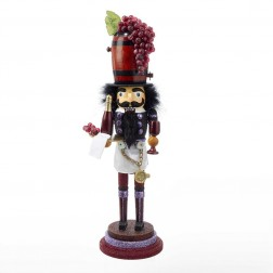"Image of 19"" Wood Wine Nutcracker"