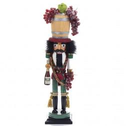 "Image of 18.9"" Wine Barrel Hat Nutcracker"