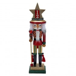 "18"" Wood Nativity Hat Nutcracker"