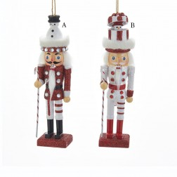 "6"" Wood Snowman Hat Nutcracker"