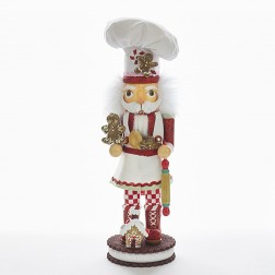 "15"" Hollywood Gingerbread Chef Nutcracker"