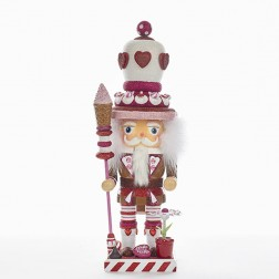 "16"" Hollywood Chubby Heart King Nutcracker"