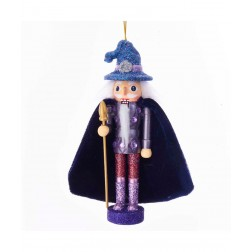 "Image of 6""Holly Wood Wizard Nutcracker Orn"