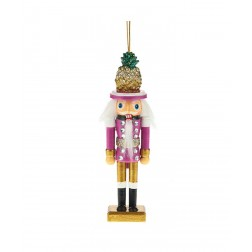 "Image of 6""Hollywd Ntcrckr Pineapple Hat Orn"