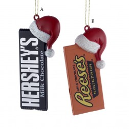 "Image of 3.5-4.5"" Hershey Bar with Hat"