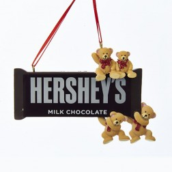 """3.125"""" Resin Hershey`s Bar with Bears Ornament"""
