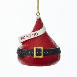 """2.5"""" """"Ho Ho Ho"""" Hershey`s Kiss Ornament"""