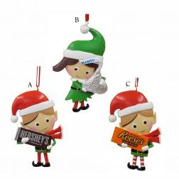 "3.25"" Hershey/Kisses/Reese`s Elf Ornament"