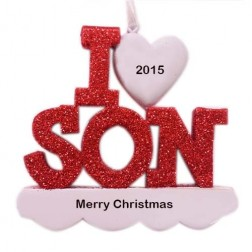 I Love My Son Personalized Christmas Ornament