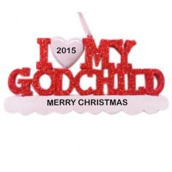 I Love My Godchild Personalized Christmas Ornament