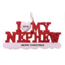 I Love My Nephew Personalized Christmas Ornament